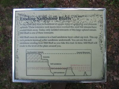 Eroding Sandstone Bluffs Sign image. Click for full size.