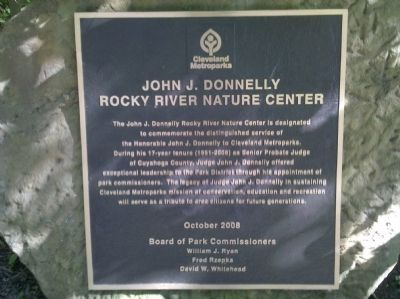 John J. Donnelly Rocky River Nature Center Marker image. Click for full size.