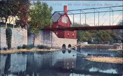 """Mill Street Bridge & Dam"" image. Click for full size."