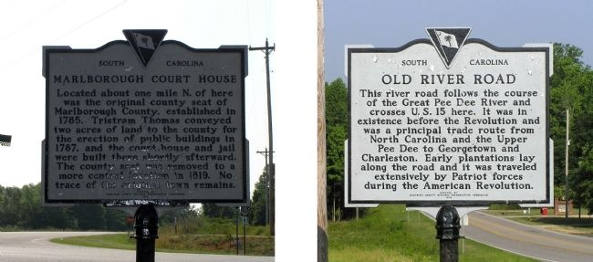 Marlborough Court House / Old River Road Marker image. Click for full size.