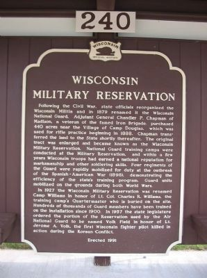 Wisconsin Military Reservation Marker image. Click for full size.