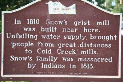 Snow's Grist Mill Marker image. Click for full size.