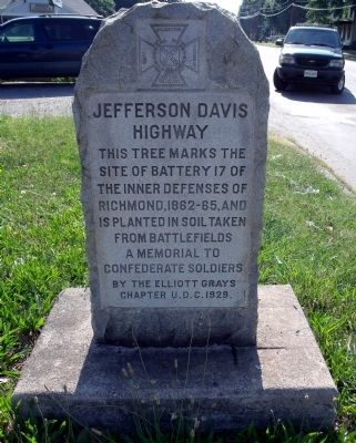 Jefferson Davis Highway UDC Marker image. Click for full size.