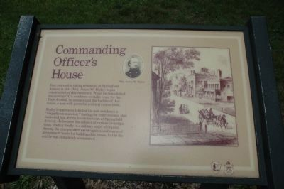 Commanding Officer's House Marker, Springfield Armory image. Click for full size.