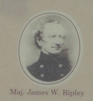 Marker Detail - Maj. James W. Ripley image. Click for full size.