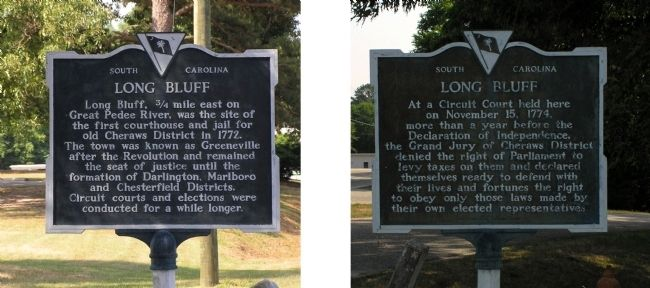 Long Bluff Marker image. Click for full size.