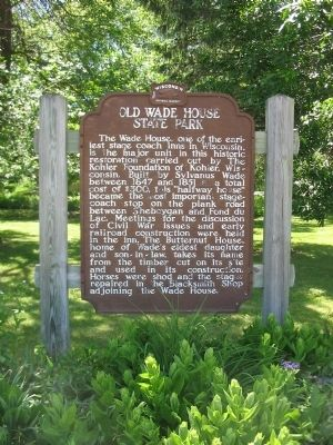 Old Wade House State Park Marker image. Click for full size.