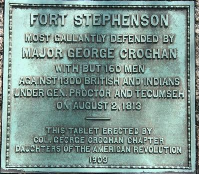 Fort Stephenson Marker image. Click for full size.
