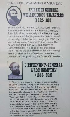 Confederate Commanders at Averasboro image. Click for full size.