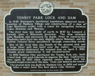 Tenney Park Lock and Dam Marker image. Click for full size.
