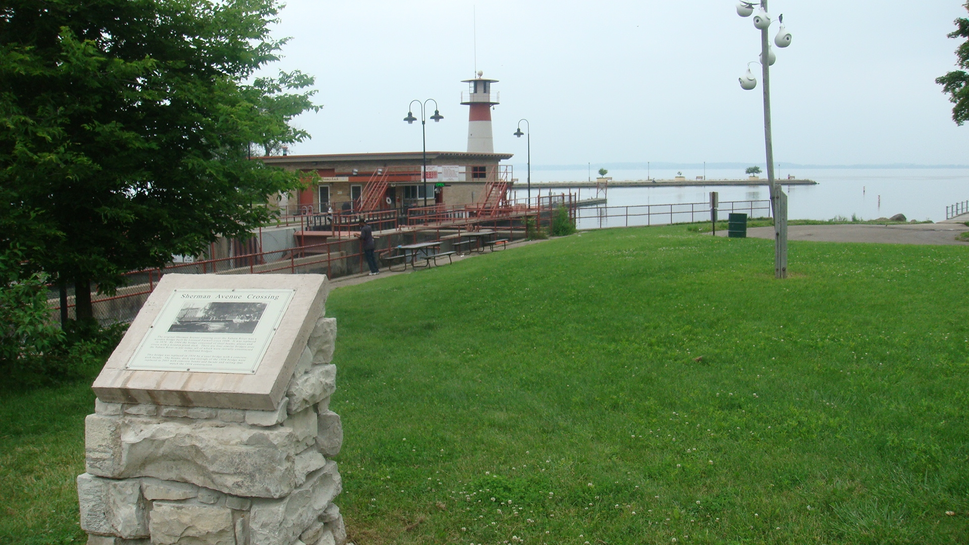 View of Related Plaque at Tenney Park Lock and Dam