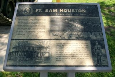 Ft. Sam Houston Quadrangle and Staff Post Marker image. Click for full size.