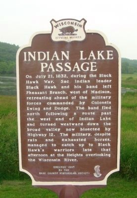 Indian Lake Passage Marker image. Click for full size.