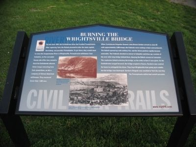 Burning the Wrightsville Bridge Marker image. Click for full size.