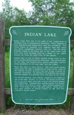 Indian Lake Marker image. Click for full size.
