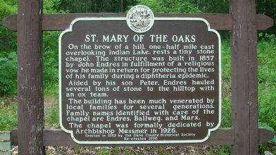 St. Mary of the Oaks Marker image. Click for full size.