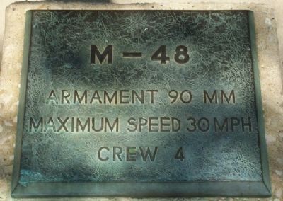 "M-48 Medium Tank 90mm ""Patton"" Marker image. Click for full size."