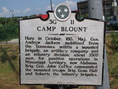 Camp Blount Marker image. Click for full size.