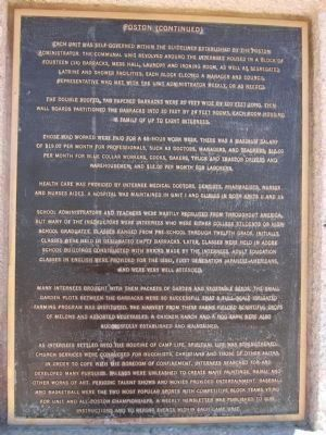 Poston - Plaque Number 3 image. Click for full size.