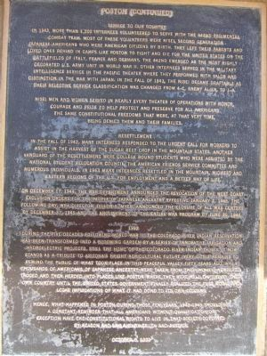 Poston - Plaque Number 4 image. Click for full size.