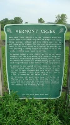 Vermont Creek Marker image. Click for full size.
