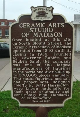 Ceramic Arts Studio of Madison Marker image. Click for full size.