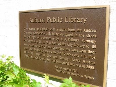 Auburn Public Library Marker image. Click for full size.