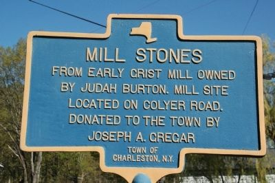 Mill Stones Marker - Burtonsville, NY image. Click for full size.