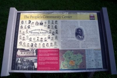 The People's Community Center CRIEHT Marker image. Click for full size.