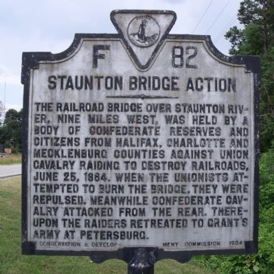 Staunton Bridge Action Marker image. Click for full size.