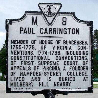 Paul Carrington Marker image. Click for full size.
