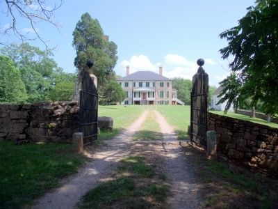 Prestwould Plantation Gate image. Click for full size.