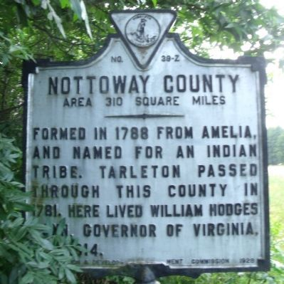 Nottoway County Marker (obverse) image. Click for full size.