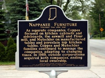 Nappanee Furniture Marker at Previous Location image. Click for full size.