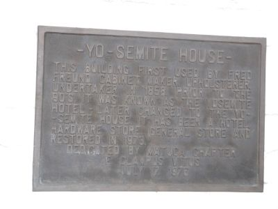 -Yo- Semite House Marker image. Click for full size.
