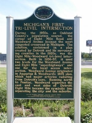 Michigan's First Tri-level Intersection image. Click for full size.