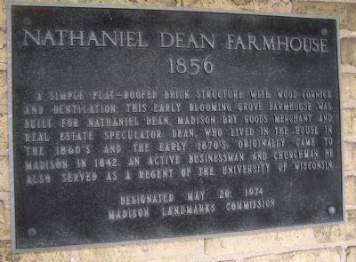 Nathaniel Dean Farmhouse Marker image. Click for full size.