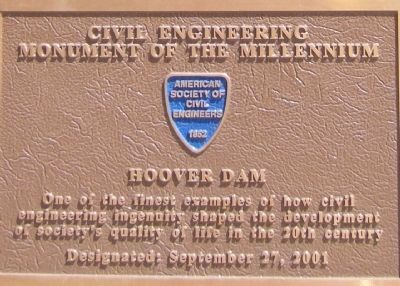 Civil Engineering Monument of the Millennium Marker image. Click for full size.