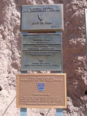 Hoover Dam Markers image. Click for full size.