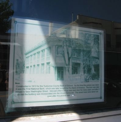 Photo on Display in the Window at the Current Site of the Union Democrat image. Click for full size.