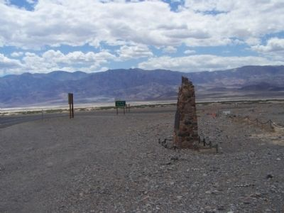 Death Valley 49ers Gateway Marker, near Badwater Road image. Click for full size.