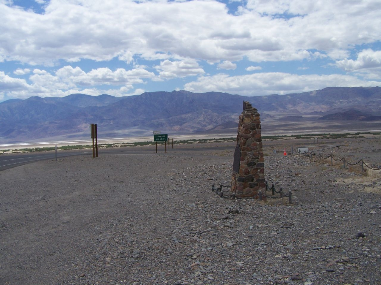 Death Valley 49ers Gateway Marker, near Badwater Road