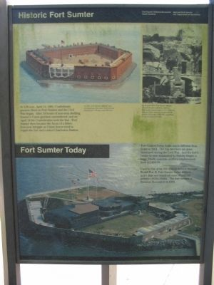 Historic Fort Sumter - Fort Sumter Today Marker image. Click for full size.