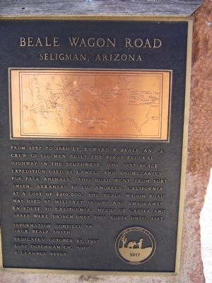 Beale Wagon Road Marker image. Click for full size.