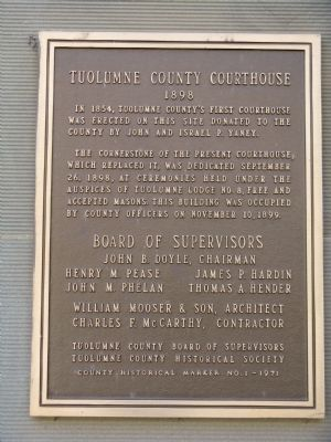 Tuolumne County Courthouse Marker image. Click for full size.