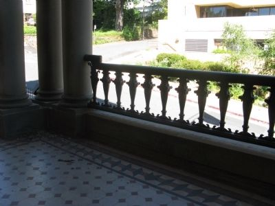 Architectural Detail of Railing on Second Level image. Click for full size.