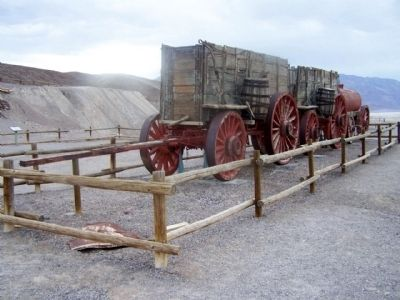 Typical 20 mule team wagon arrangement image. Click for full size.