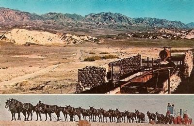 Vintage Postcard - Old Harmony Borax Mill-Death Valley, California image. Click for full size.