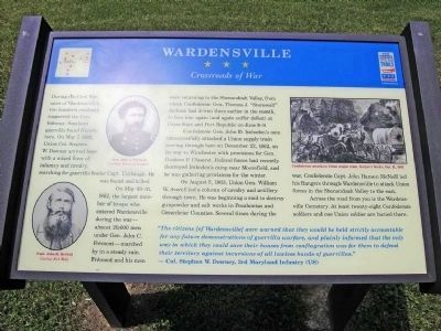 Wardensville - Crossroads of War Marker image. Click for full size.
