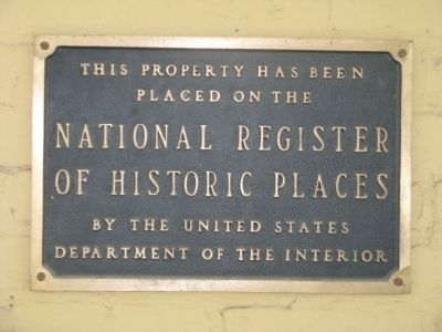 National Historic Landmark Designation Plaque image. Click for full size.